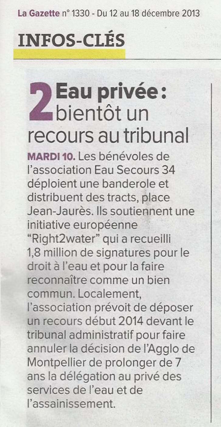 article de la Gazette de Montpellier